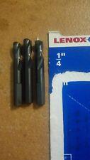 "3 pcs pack LENOX Split Point Stubby Pilot Drill Bits size: 1/4"" /6.35mm USA made"