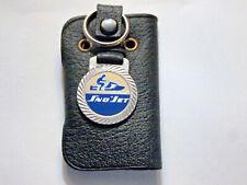 Sno Jet Snowmobile Keychain, Creme background (1) Vintage 1970's Original