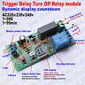 AC220V~240V 230V Delay Timer Delay Switch Turn Off Board Time Relay Module W/LED