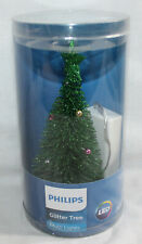 """Philips LED Glitter Christmas Tree Multi Lights Battery Operated 6.75"""" NEW"""