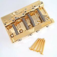 TCS® Gotoh GOLD 201B-4 String Bass Bridge for Fender Precision Bass & Jazz Bass