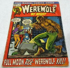 WEREWOLF BY NIGHT # 1 1972 PLOOG VG- (3.5 ) COPY! GLOSSY COMPLETE SOLID STAPLES!
