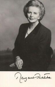 Autogramm - Margaret Thatcher