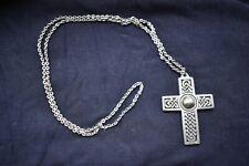 Large Pewter Celtic Cross Pendant