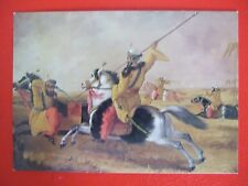 VINTAGE MILITARY POSTCARD- SKINNER'S HORSE AT EXERCISE C1838 BY J R GWATKIN