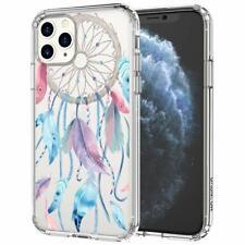 iPhone 11 Pro Max Case Plastic Hard Back TPU Bumper Dream Catcher Pattern Clear