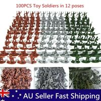 100pcs Pack Military Plastic Toy Soldiers Army Men Figures 12 Poses Gift Boys