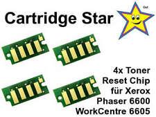 Set 4x Toner Reset Chip für Xerox Phaser 6600 WorkCentre 6605