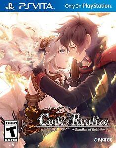 Code: Realize Guardian of Rebirth [Sony PlayStation Vita PSV, Visual Novel] NEW