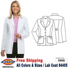 Dickies Scrubs Lab COATS Women's Fashion 29 Inch Lab Coat 84405