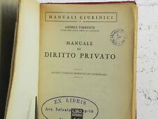 MANUALE DI DIRITTO PRIVATO Torrente Seconda Edizione 1955 Dott. GIUFFRè Editore