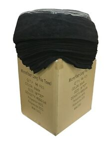 "96 Case of Microfiber 400GSM Professional 16""x27"" Salon Towels (Black)"