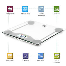 400Lb BMI Weight Scales Electronic LCD Digital Personal Glass Bathroom Scales US