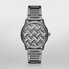 NWT Michael Kors Women's Hartman Gunmetal Bracelet Watch 38mm MK3593