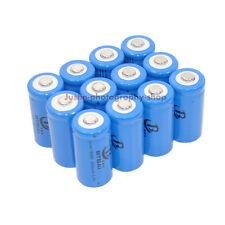 12x 16340 CR123 3.7V 650mAh Battery Pack for Ultrafire LED Flashlight Torch Lamp