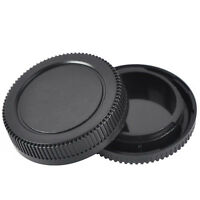 2x Body +Rear Lens Cap Cover Protective Case For nikon Camera Black