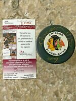 Bobby Hull signed Chicago Blackhawks HOF 1983 NHL Hockey Puck JSA #E63750