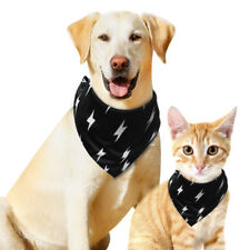 Adjustable Pet Dog Cat Puppy Neck Scarf Collar Soft Large Dog Bandana Black