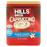 (10 Pack) Hills Bros Sugar Free French Vanilla Cappuccino Beverage Coffee 12 Oz