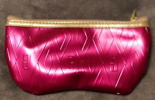 Ladies CLINIQUE Cerise Pink Waterproof Shaped Sunglasses Case With Zip Fastener
