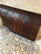 Snakeskin Clutch Bag Or Travel  Wallet Vintage Leather Lining