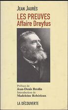 Jean Jaurès Les preuves. Affaire Dreyfus
