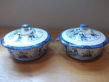 2 LOVELY ANTIQUE BOOTHS 'NETHERLANDS' TUREENS
