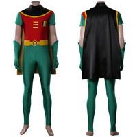 TeenTitans Robin Cosplay Costume Jumpsuit Outfits Halloween Carnival Costumes