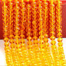 Lots 4/6/8/10MM Rondelle Faceted Crystal Glass Loose Spacer Bead Jewelry Finding