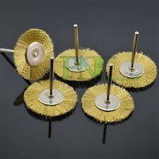 10PC 38mm Brass Wire Wheel Brushes Wheel For Rotary Tool 3mm Shank
