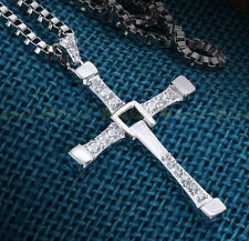 Bahamut 925 silver Fast and Furious same paragraph Cross Pendant Men Neckl NT105