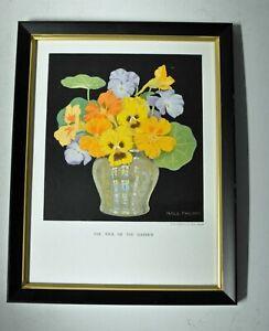 Hall Thorpe Framed Flower Print Still Life Pick of the Garden