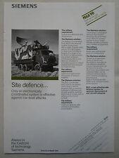 5/1990 PUB SIEMENS BCP BATTERY COORDINATION POST DOPPLER RADAR IFF BUNDESWEHR AD