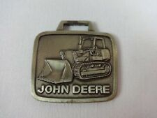 John Deere Bulldozer Metal Watch Fob Tractor Grader Excavating Combine