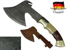 Damast Stahl Axt handgeschmiedet Mittelalter Beil Fleischerbeil Wikinger Messer