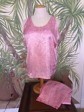 Enchanting•Women's 2X-3X•Pink 2pc Pajamas SEXY SLEEVLESS Top 2X, Pants 3X •NEW•