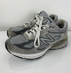 Women New Balance 990v4 grey comfort athletic shoes sneakers W990GL4, 6.5 2E