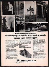 1975 COLORADO SPRINGS POLICE DEPT...Motorola Pager PRINT AD