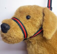 Figure of eight Airweb cushion  dog halter headcollar & Lead in one Green & Red