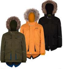 Regatta Capton Kids Parka Waterproof 3/4 Length Jacket Black Size 3-4