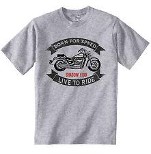 HONDA SHADOW VTT 1100-NEUF Coton GRIS T-Shirt-Toutes les tailles en stock