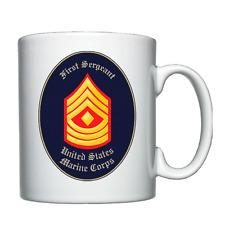 USMC - United States Marine Corps - First Sergeant - Personalised Mug