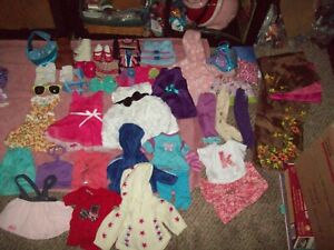 Mixed lot 40+ pieces doll Clothes American Girl OG dolls Battat + Shoes boots ++