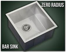 "15"" Single Bowl Undermount 16 Gauge 304 Stainless Steel Kitchen Sink Zero Radius"