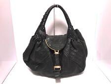 Auth FENDI Spy Bag 8BR511 Black Leather Handbag