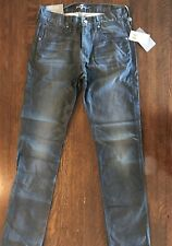 NEW $189 7 Seven For All Mankind THE STRAIGHT new gray grey Classic Jeans 29