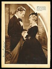 1930's MARY PICKFORD W/ Leslie Howard, Hollywood Actress VINTAGE Signed Photo