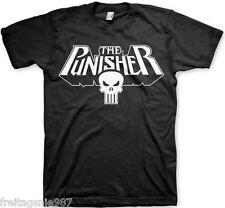 MARVEL PUNISHER Logo  T-Shirt  camiseta cotton officially licensed