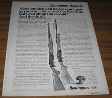1973 VINTAGE AD~REMINGTON MODEL 742 AUTOMATIC RIFLES