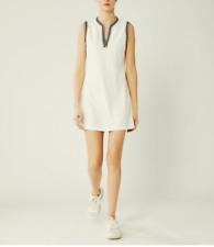 NWT $225 Tory Burch Sport Sleeveless Tunic Dress Snow White Tennis Golf XS M
